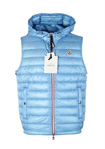 3c038cd62 New Moncler Blue Gien Hooded Shell Gilet Vest Size 3   M   50   40 ...