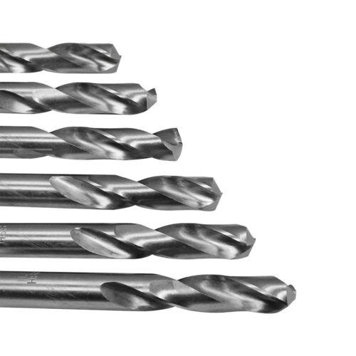 High Speed Steel Twist Straight Shank 6Pc 21//64/'/' HSS Screw Machine Drill Bits