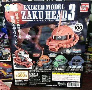 Bandai Gundam Exceed Model Zaku Head Collection 3 Gashapon - Full Set of 4