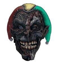 Adult Twisted MAD JOKER Mask Mardi Gras Evil Jester Clown Mens Costume Accessory