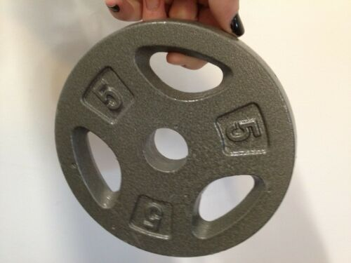 """or 25lb Pound Cast Iron Standard 1/""""//Olympic 2/"""" Barbell Plates Weight 2.5 5 10"""