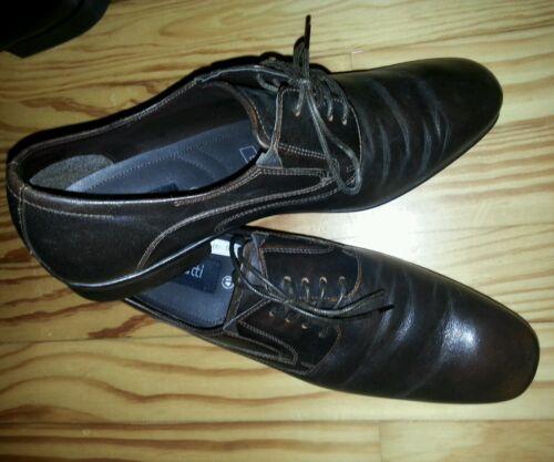 in mezza uomo da Bugatti Top marrone business 41 pelle Scarpe taglia YqaxpSU