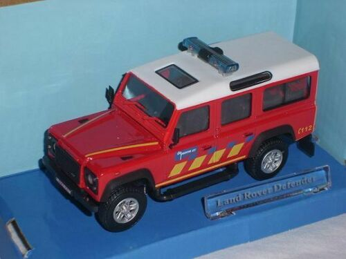 Land Rover Defender Feuerwehr 1//43 Cararama Modellauto Modell Auto