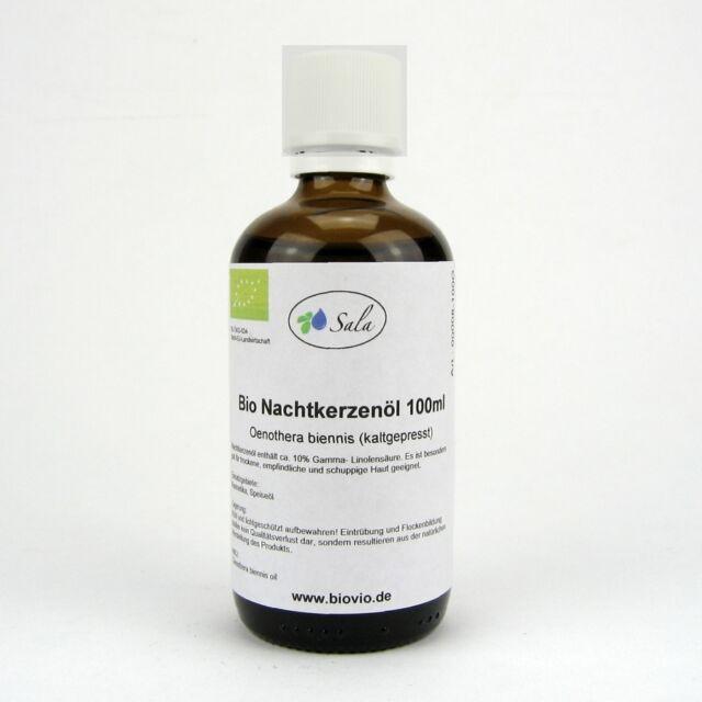 (10,39/100ml) Nachtkerzenöl Nachtkerze Öl kaltgepresst bio 100 ml Glasflasche
