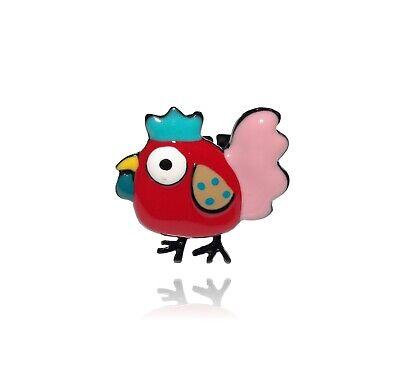 Bague poule Paris rouge à pois collection Cocorico créateur