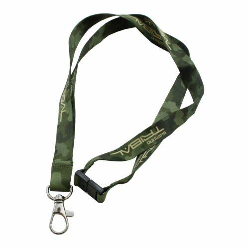 Shimano Schlüsselband Tribal Camouflage grün Karabiner Schlüsselband 48,5cm