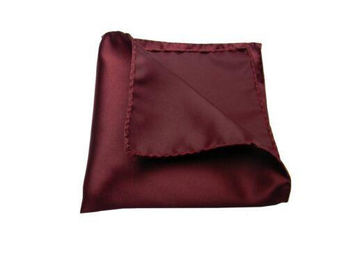 Fazzoletto da taschino bordeaux uomo handkerchief pochette classe made italy