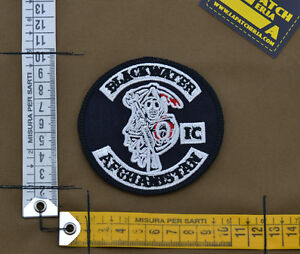 Ricamata-Embroidered-Patch-034-Blackwater-Afghanistan-IC-034-with-VELCRO-brand-hook