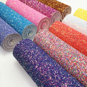Pastel-Candy-Extra-Chunky-Glitter-Fabric-Leather-for-Bows-Craft-Premium-Quality