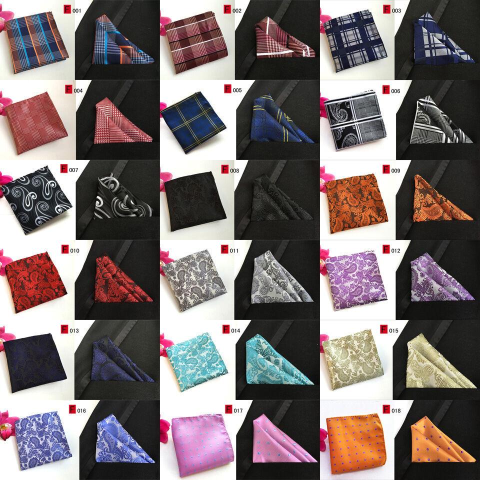 10 pcs mens handkerchief lot Pocket Square Paisley Polka Plaids Hanky 73 colors