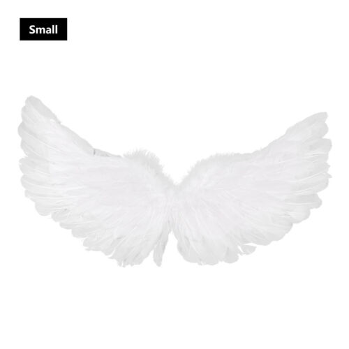 Adults Kids Angel Feather Wings Costume Cosplay Christmas Fancy Dress Photo Prop