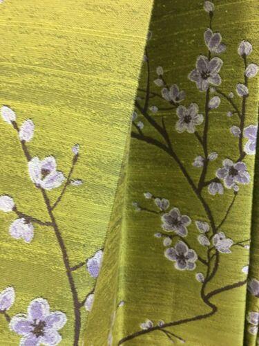92.6 cm patrón de repetición Verde Tela De Cortina//material 143 cm de ancho Mio
