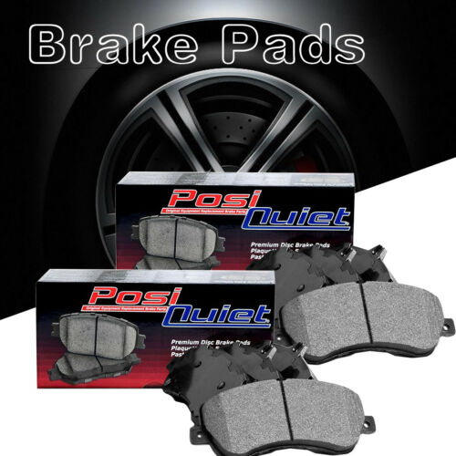 Front Rear Posi-Quiet Metallic Brake Pads 2Set For 2004-2005 Cadillac CTS