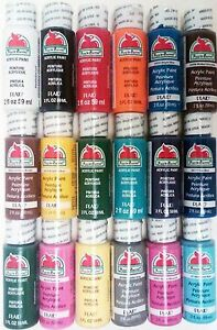 Apple Barrel Acrylic Paint Set 18 Piece (2-Ounce) PROMOABI Best Selling Color...