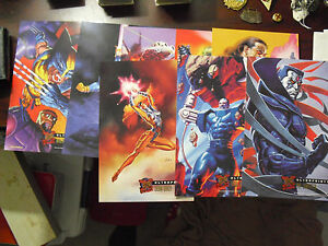 Lot-of-8-1995-Fleer-Ultra-X-Men-Ultra-Prints-Large-Glossy-Cards-2-LOOK