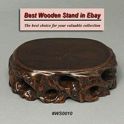 Netsuke Carving Display WS0050 Wood Stand For Figurine