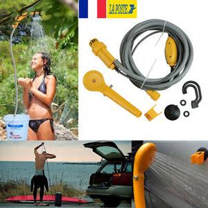 Douche-de-camping-portable-12V-avec-Pompe-a-eau-Voyage-Randonnee-Voiture-Animal