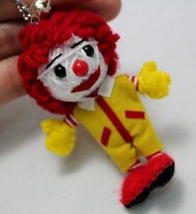 ronald mcdonald voodoo keyring keychain handmade doll