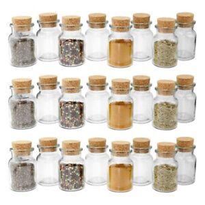 24-WELLGRO-Gewuerzglaeser-150-ml-Gewuerzglas-Vorratsglas-Korkenglas-Korken-Glas-NEU
