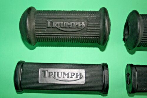 TRIUMPH TWINS Repose-pied Kick Start extrémité ouverte levier de vitesses en caoutchouc Set 1946 sur