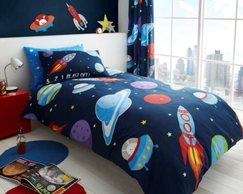 KIDS DUVET COVER SET With Pillowcases Single Bed Size Quilt Bedding Reversible