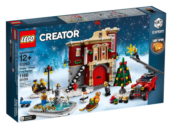 Lego Creator Winter Xmas Village Fire Station (10263) Free Post New Sealed RéTréCissable