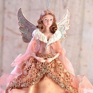 Rose-Gold-Angel-Resin-9-Inch-Christmas-Ornament-Kurt-Adler-NEW-N01