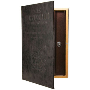 Barska Beautiful Large Hidden Antique Book Lock Box Safe, with Key Lock, CB11992