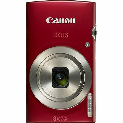 Canon IXUS 185 Compact Digital Camera 5-40mm f/3.2-6.9 8x Zoom Red 1809C009