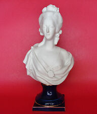 Unsigned Two Stage Connected w/ Square Bolt French Bisque Porcelain Bust Figure