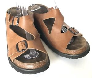 0ef999f19d7 Lord   Taylor Sandals Womens 8.5 Brown Casual Wedge Ripple Sole