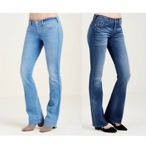 True-Religion-Women-039-s-Becca-Mid-Rise-Bootcut-Jeans