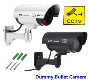 Dummy-Camera-CCTV-Security-Surveillance-Cam-Fake-Red-IR-LED-Outdoor-Indoor-lot