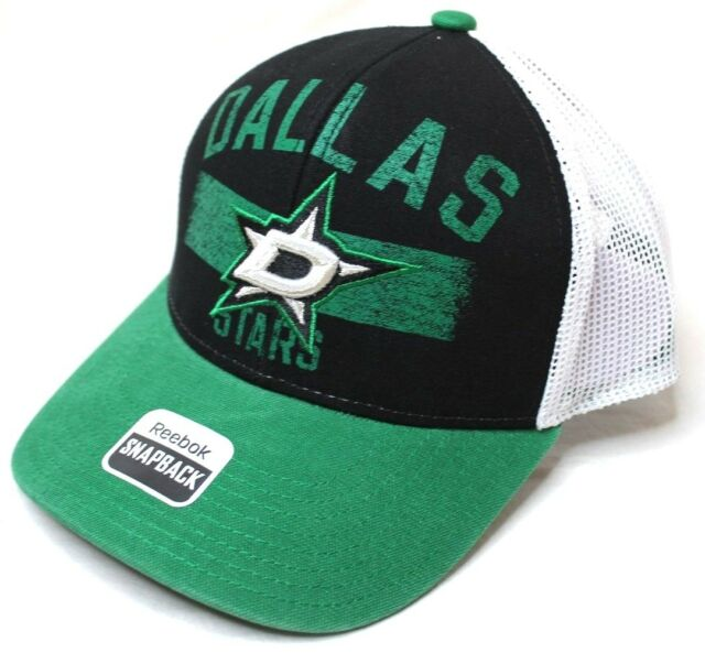 ddf3d59de2b Reebok NHL Dallas Stars Men s SP17 City Name Trucker Cap Black One Size New  NWT