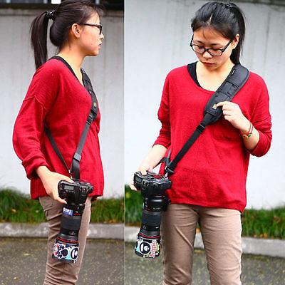 SLR DSLR Camera Quick Rapid Single Shoulder Sling Belt Strap for Digital  Camera