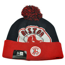 MLB New Era Boston Red Sox Woven Biggie 2 Cuffed Beanie Winter Pom Warm Knit Hat