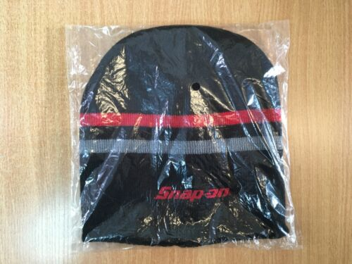 Red Grey Winter Beanie Hat Option to Add Pen Brand New Snap-On Tools Black