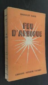 Hassoldt Davis Fuego África Librería A. Fayard 1945 París Pin ABE