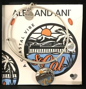 NEW Authentic Alex Ani SoCal California Bangle Charm Bracelet - Alex and ani cruise ship bangle