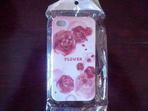 IPhone-4-4g-4gs-hard-case-cover-Pink-white-Red-Rose-flower-design