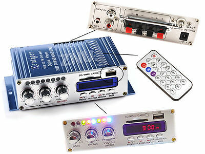 2CH LCD Power HiFi Stereo AMP Amplifier For ipod Car Home MP3 FM Receiver AUX SD