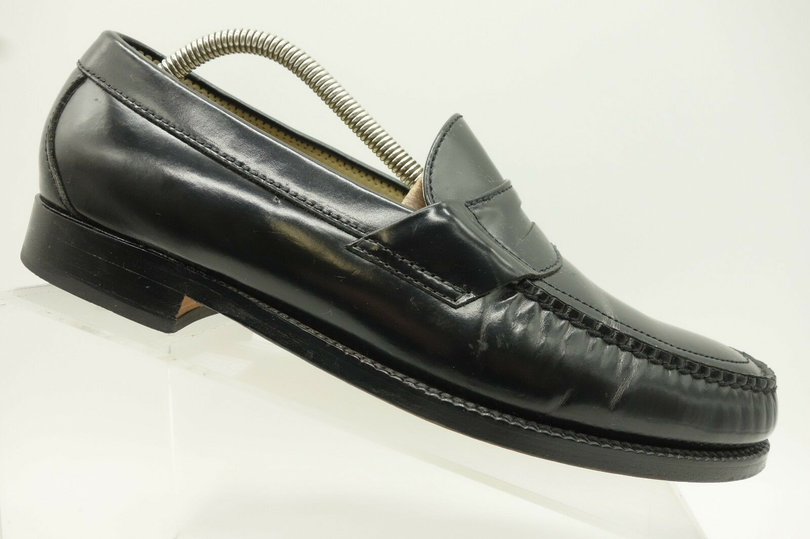 SAS Black Leather Casual Slip On Penny Loafers Mens 9.5 N