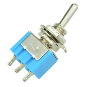5PCS-Mini-6A-125VAC-SPDT-MTS-102-3-Pin-2-Position-On-on-Toggle-Switches-Practic