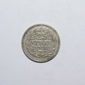 1928-25-Cents-Netherlands-Silver-High-Grade-Value-Coin