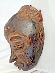 Authentic-South-African-MASK-Wooden-handcarved-Tribal-Sculpture-Genuine-12-034-long
