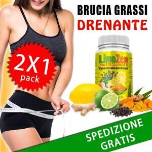 Limozen Integratore per Dimagrire Alimentare Brucia Grassi Drenante 2x1 Detox