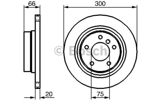 BOSCH Juego de 2 discos freno Trasero 300mm ventilado BMW Serie 3 0 986 479 218
