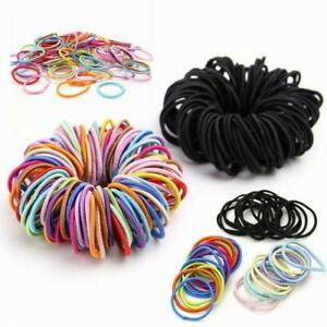 Elastic-Rope-Women-Hair-Ties-Ponytail-Holder-Head-Band-Hairbands-Lot-50-100-Pcs
