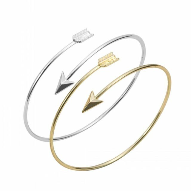 Fashion Bohemian Women Upper Arm Cuff Adjustable Open Bangle Arrow Bracelet