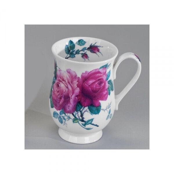 298621 Roy Kirkham Becher Elenore English Rose Kaffeebecher, Porzellan, Teetasse
